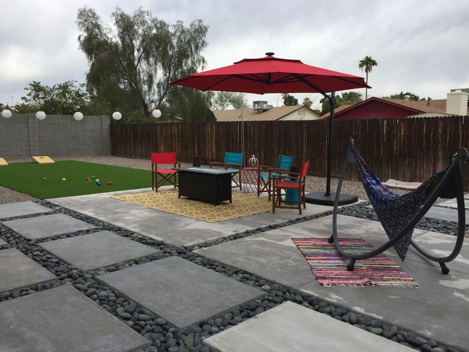 Modern Concrete and Turf Design