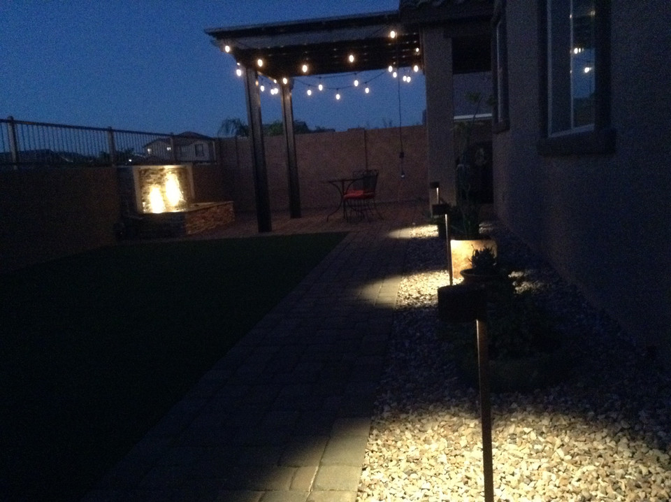 Backyard Modern Lighting