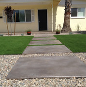 Concrete Acid Stain with Turf