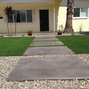 Concrete Acid Stain and Turf