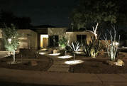 Modern Front Yard Lighting