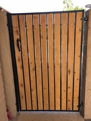 Custom Built Metal Wood Gate
