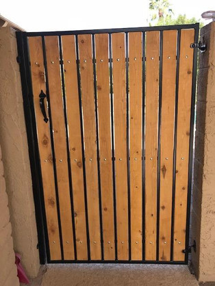 Custom Built Metal Wood Gate