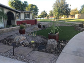 Curb Appeal with Contouring, Turf, and Pots