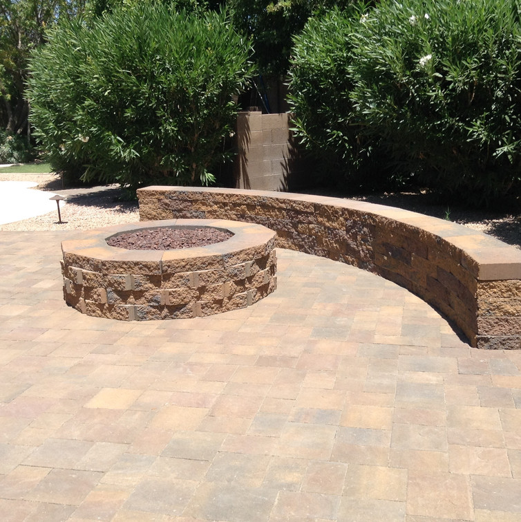 Fire Pit and Seatwall
