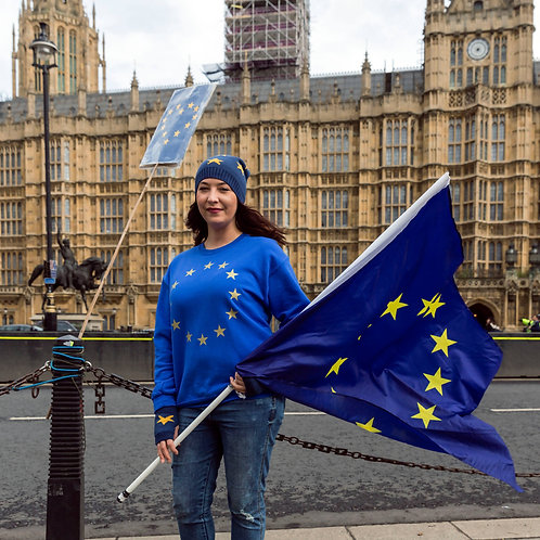 Pro EU 'Metallic EU Stars' Cotton Unisex Sweater