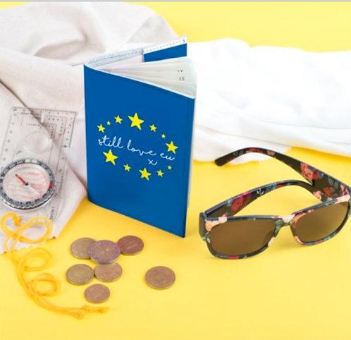 Pro EU Leather Handmade Passport Cover (Still Love EU)