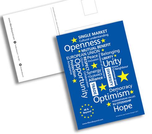 Pro EU 'What the EU means to EU' Postcards (Pack 10 A6)