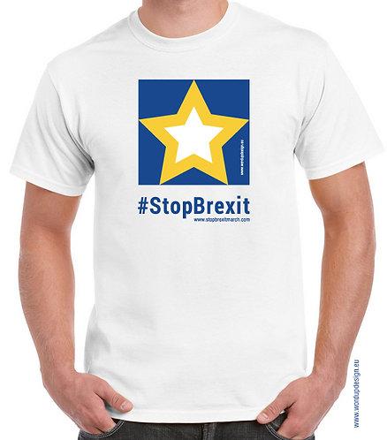 Pro EU Remain Official #StopBrexit T-shirt Mens Cotton