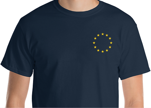 Pro EU Gold Embroidered EU Star T-shirt Cotton