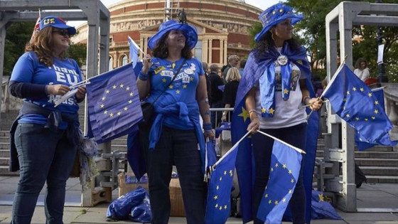 Wordupdesign were part of the free EU flag giveaway at The Proms. We made it into The New European t