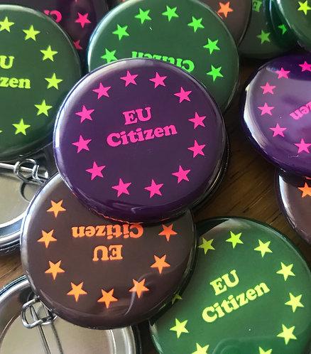 EU Citizen small pin badge