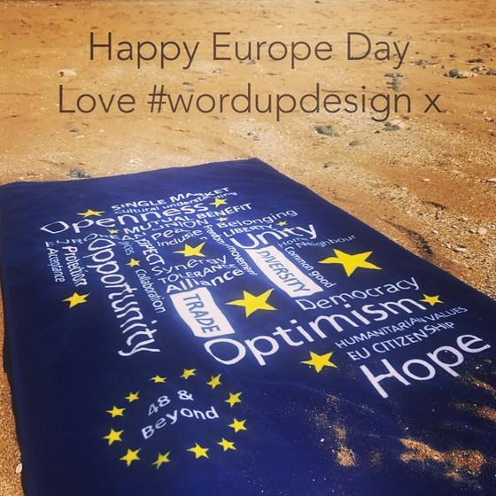 Happy Europe Day! Love #wordupdesign