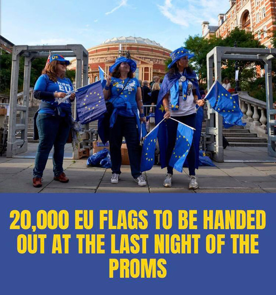 We are going to hand out 20,000 EU flags at this year's 'Last Night of the Proms'