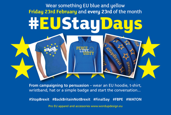 #EUStayDays this Friday 23rd February and every 23rd