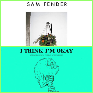 Sam fender millennial song cover collage with MGK