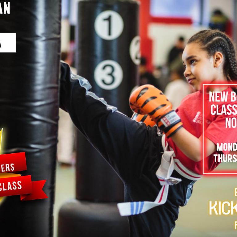 November Kids Kickboxing Offer