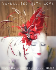 Feather Fascinator Vandalised with Love