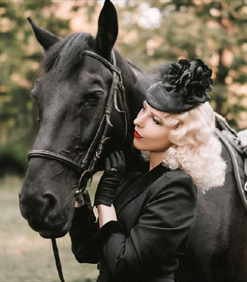 Vintage Riding hat Vandalised with Love_