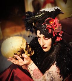 Halloween headpiece Vandalised with Love