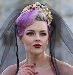 Alternative Bride Vandalised with Love