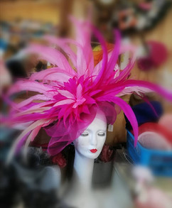 Large pink hat for Ascot Vandalised with Love