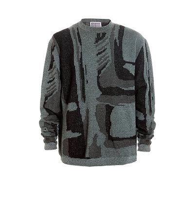 Geometric Camouflage Sweater