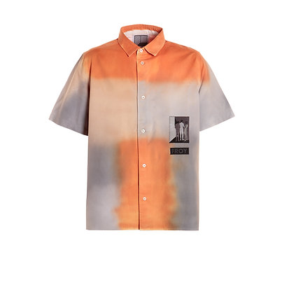 Short Sleeve Airbrushed Shirt with Patch