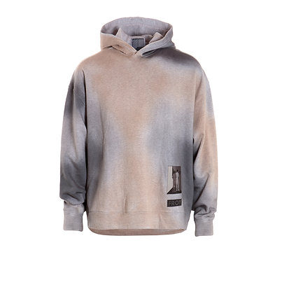 Airbrushed Oversized Hoodie with Patch