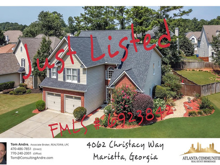 Just Listed In Marietta, GA. Thornbrook subdivision (swim/tennis/playground)! Listed on 8/3/21.