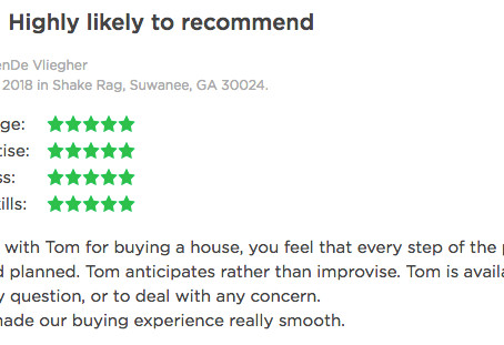 Client Reviews Of My Real Estate Services.