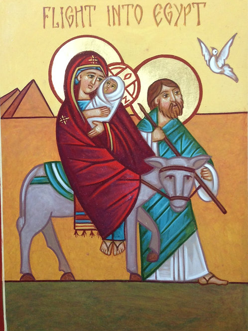 Flight Into Egypt, Coptic style