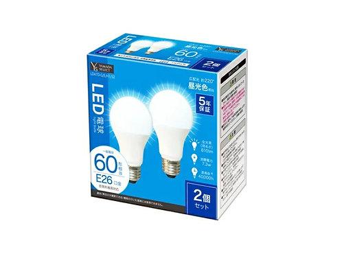 YAMADA SELECT(ヤマダセレクト) LDA7D-G/E/H1/S2 LED電球 60W 昼光色 口金E26 2個入り 昼光色 ×3セット