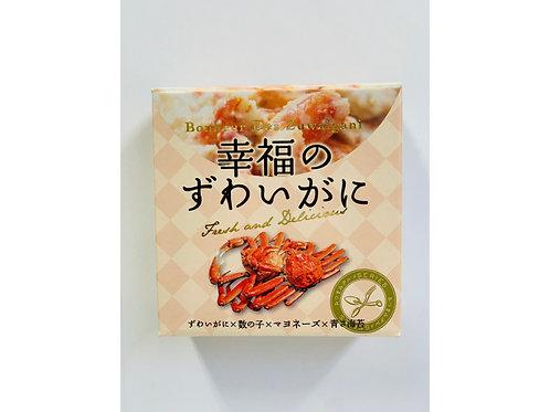 <グルメ>味の海豊缶詰めセット(幸福のずわいがに×2缶、天使のほたて×2缶、煌めきチーズいか×2缶)