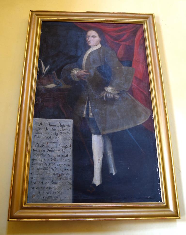 Pintura al óleo de Don Juan Antonio de Urrutia