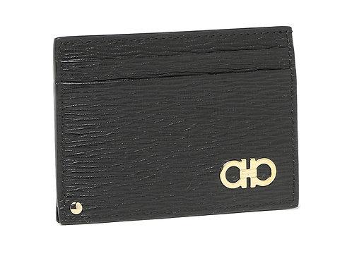 Salvatore Ferragamo フェラガモ  カードケース 685908 ダブルガンチーニ ブラック