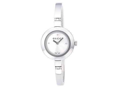 GUCCI グッチ 腕時計 G-サークル シルバー文字盤 YA105545