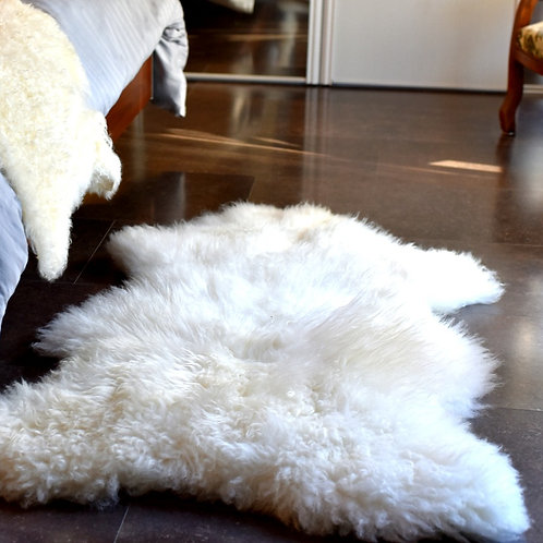 Peau de mouton Mérinos Blanc