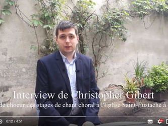 Interview Christopher Gibert : Stages jeune chœur et technique vocale