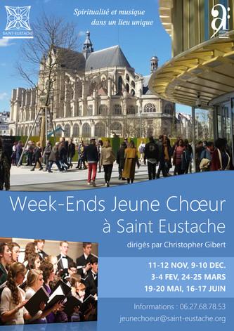 Affiche des Week-end Jeune Chœur à Saint-Eustache à Paris