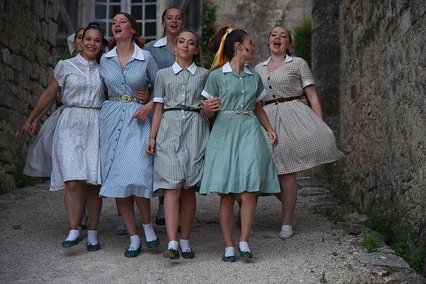 Les Figurantes du Festival des Châteaux de Bruniquel www.brunqueloff.com