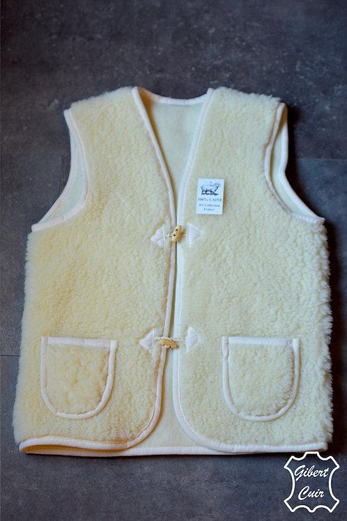 Gilet ADULTE pure laine de mouton