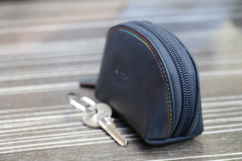Porte monnaie en cuir de vachette