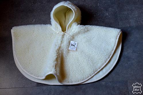 Cape ENFANT pure laine naturelle de mouton