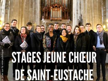 Les Stages Jeune Chœur reprennent à Saint-Eustache : un beau programme !