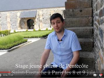 Une œuvre inédite de Christopher Gibert pour le stage de chant choral de la Pentecôte