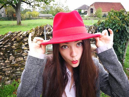 Chapeau en feutre rouge waterproof 🇮🇹