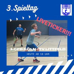 Badminton 3. Spieltag 18. 09.2021 Liveticker