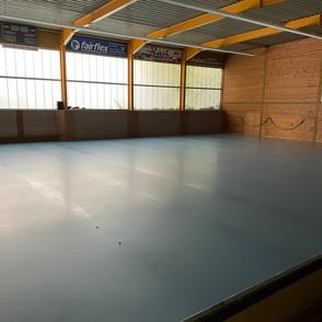 Renovierung Hallenboden - Baufortschritt