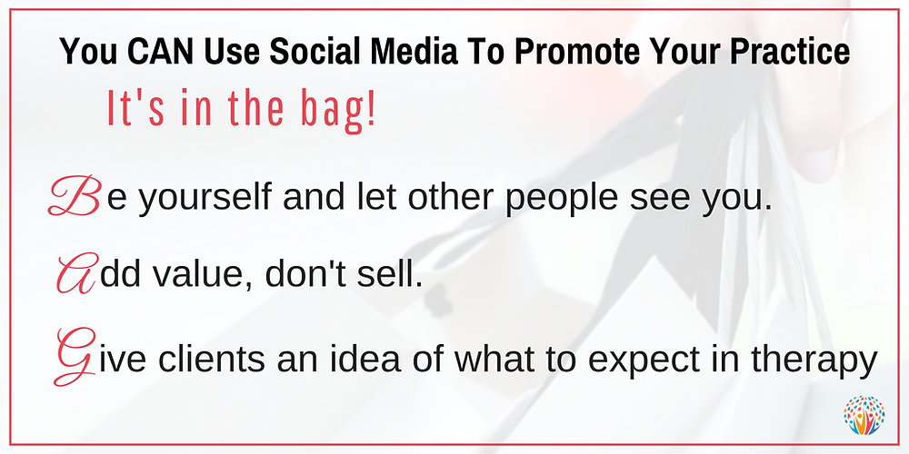 How to use social media to promote your practice